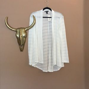 NWT Forever 21 white cardigan
